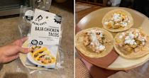 <p>The Baja Chicken Tacos came with roasted peppers, onions, and a dairy-free cilantro crema that all tasted great bundled up into one. You could really taste the garlic and cilantro, and the chicken was cooked to a good consistency.</p>