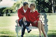 <p>Nancy Reagan shared this photo in honor of the former President's 93rd birthday in 2004. He died in June of that year. Nancy lived for several more years, passing away in 2016 at the age of 94. </p>