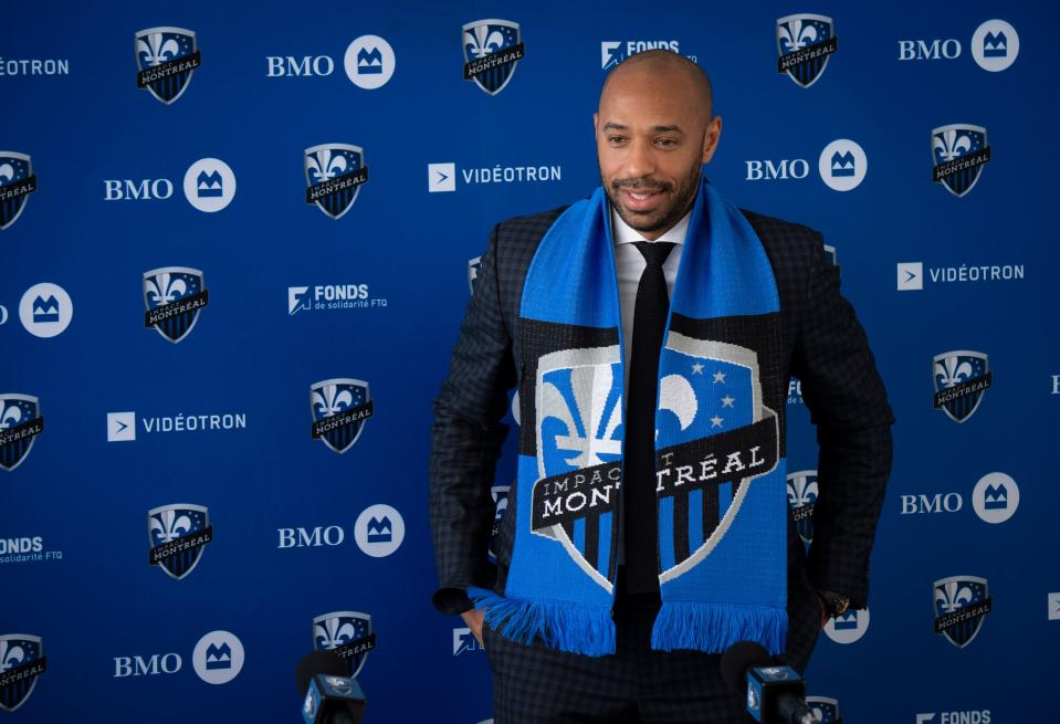 Thierry Henry was formally introduced Monday as the Montreal Impact's new manager. (Sebastien St-Jean/Getty)