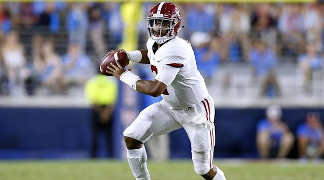 Alabama quarterback Jalen Hurts will not redshirt in 2018, entering his fifth game of the season in the first quarter against Louisiana on Saturday.