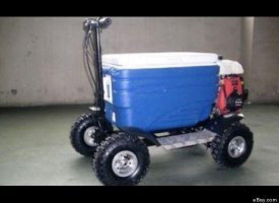 An Australian man caught driving a motorized cooler box through a beachside resort town appeared in court charged with drunk driving, The Courier Mail reported Monday. Christopher Ian Petrie, 23, faces charges of driving under the influence and driving without a license after police caught him on the makeshift vehicle, which was powered by a 50cc engine.