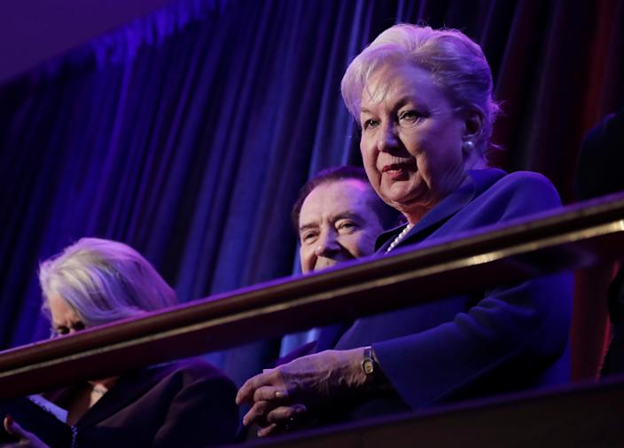 Maryanne Trump Barry pictured during her brother's election night rally in New York City on November 9, 2016.