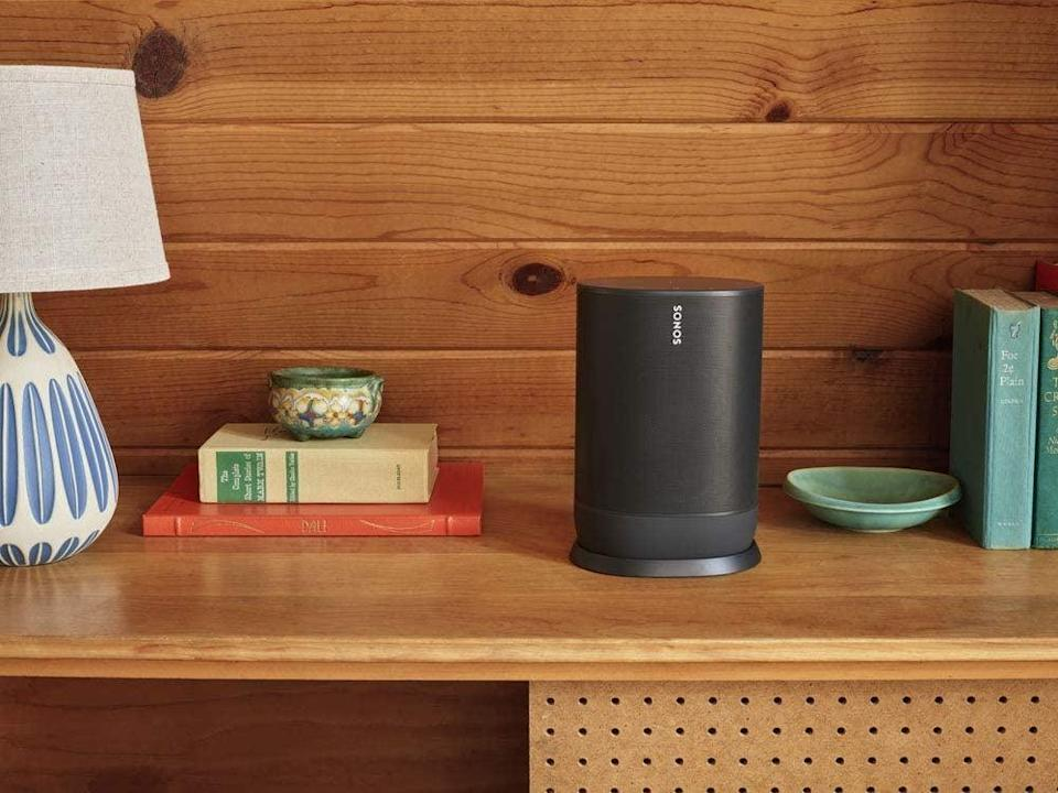 <p>They'll love watching movies with this <span>Sonos Move Battery-powered Smart Speaker</span> ($449).</p>