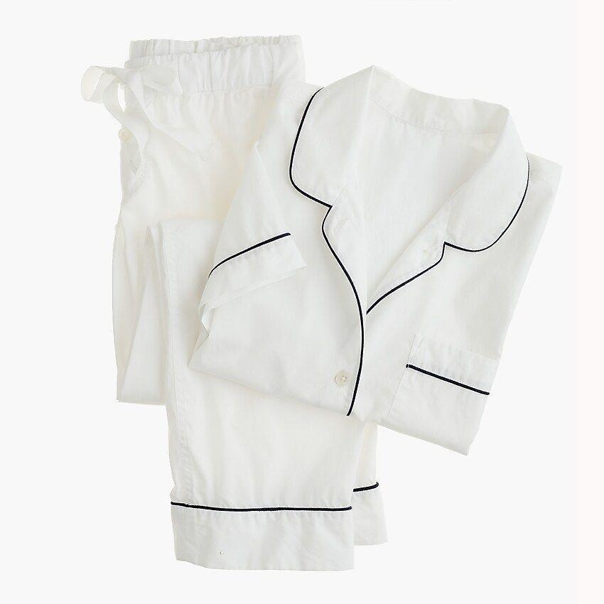 """<p><strong>J.Crew</strong></p><p>jcrew.com</p><p><strong>$85.00</strong></p><p><a href=""""https://go.redirectingat.com?id=74968X1596630&url=https%3A%2F%2Fwww.jcrew.com%2Fp%2FH4401&sref=https%3A%2F%2Fwww.esquire.com%2Flifestyle%2Fg18726497%2Flast-minute-mothers-day-gift-ideas%2F"""" rel=""""nofollow noopener"""" target=""""_blank"""" data-ylk=""""slk:Buy"""" class=""""link rapid-noclick-resp"""">Buy</a></p><p>J. Crew's pajama set is a classic choice, made for ultimate summer-sleeping comfort.</p>"""