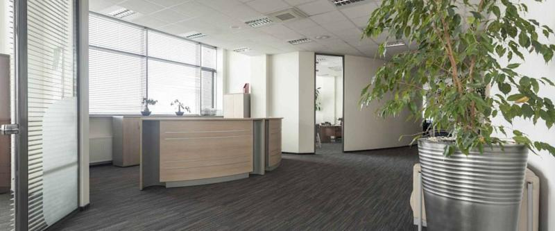 Interior of contemporary office, hall and reception