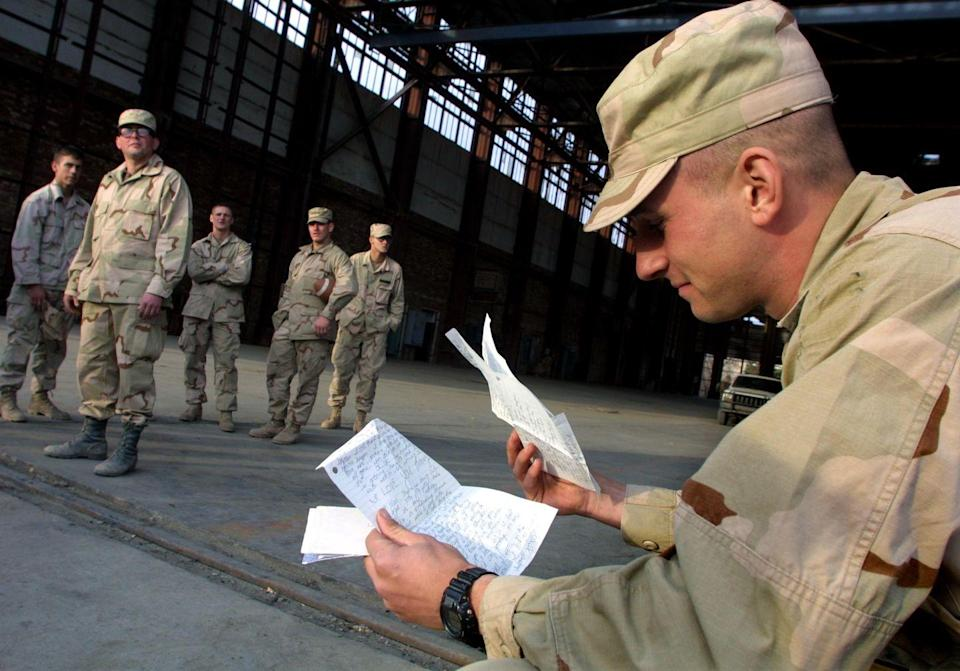 """<p>The holidays can be a hard time for deployed members of the armed forces. Brighten up their time away from home a little bit by sending a letter to someone who might not otherwise get one. The <a href=""""https://www.redcross.org/volunteer/volunteer-opportunities/holidays-for-heroes.html"""" rel=""""nofollow noopener"""" target=""""_blank"""" data-ylk=""""slk:Red Cross Holiday for Heroes"""" class=""""link rapid-noclick-resp"""">Red Cross Holiday for Heroes</a> can help you find the right pen pal.</p>"""