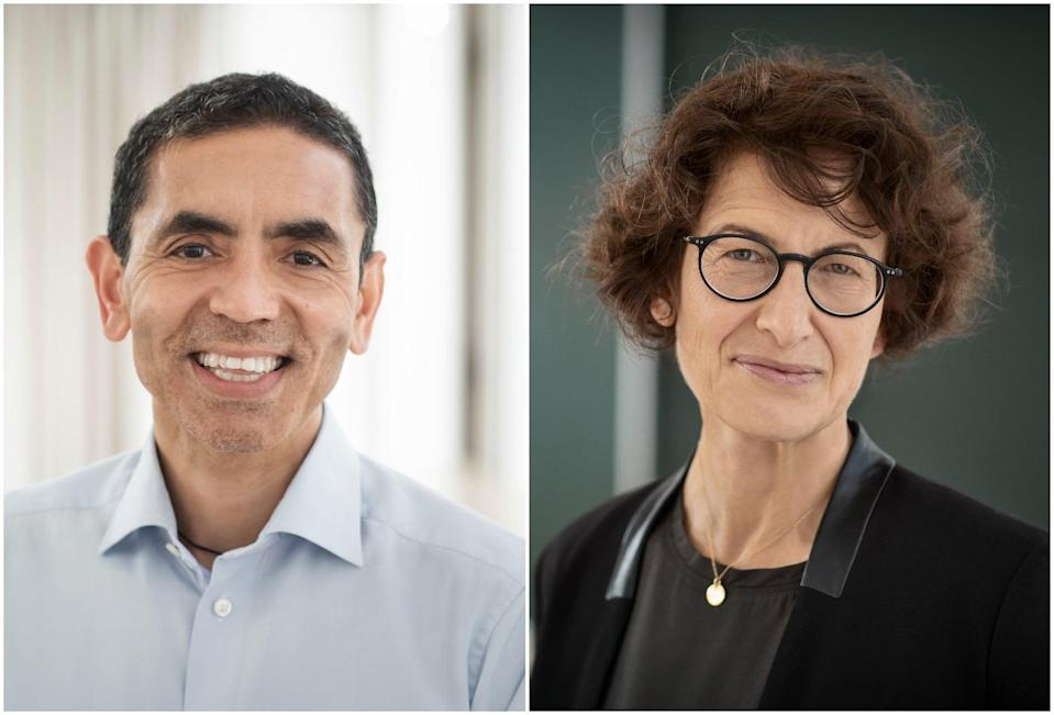 <p>Ugur Sahin and Ozlem Tureci - the married couple behind the Pfizer vaccine</p> (BioNTech SE 2020)