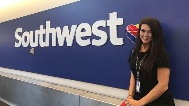 PHOTO: Southwest Airlines employee Sarah Rowan, 27, personally delivered luggage to a Southwest customer battling cancer. (Courtesy Southwest Airlines)