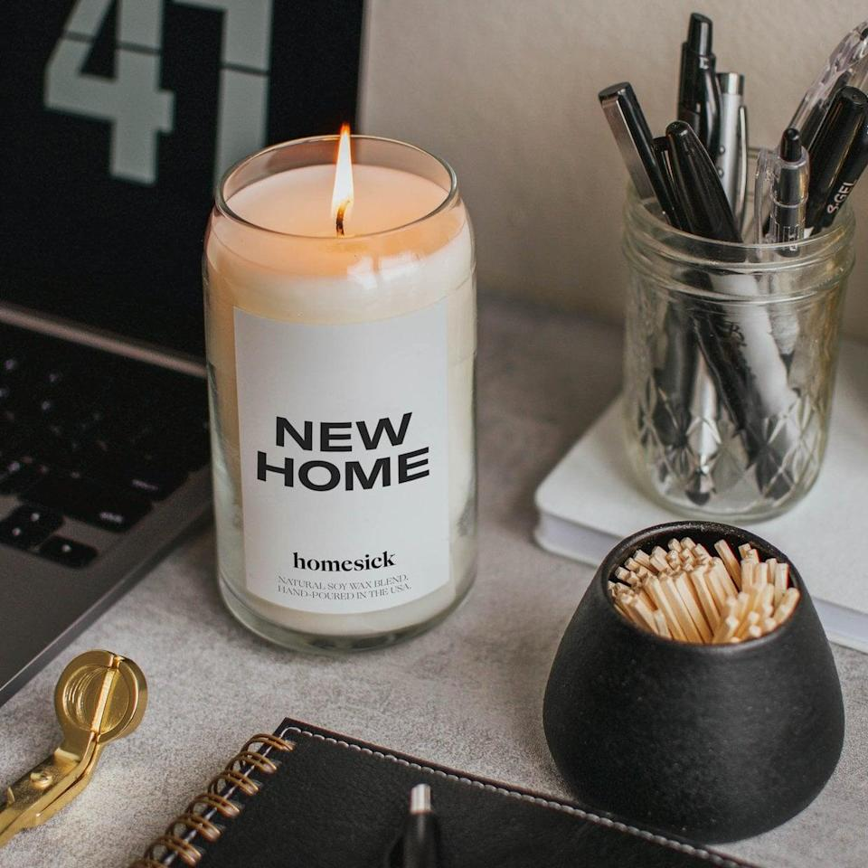 <p>You can really never have enough candles, and for someone who may have just moved in, this <span>Homesick Scented Candle</span> ($34) is perfect.</p>