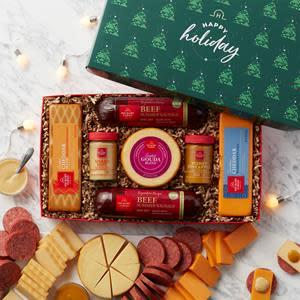 Hickory Farms Happy Holiday Summer Sausage & Cheese Gift Box