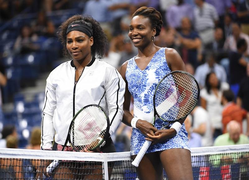 Serena Williams (left) and Venus Williams of the USA