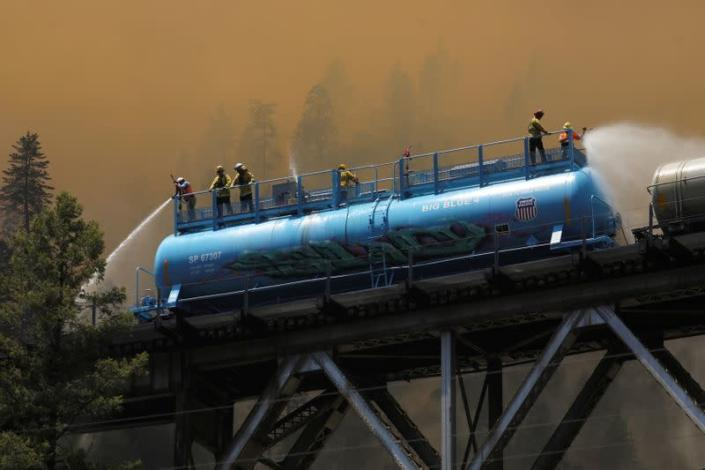 FILE PHOTO: Dixie Fire in Plumas National Forest