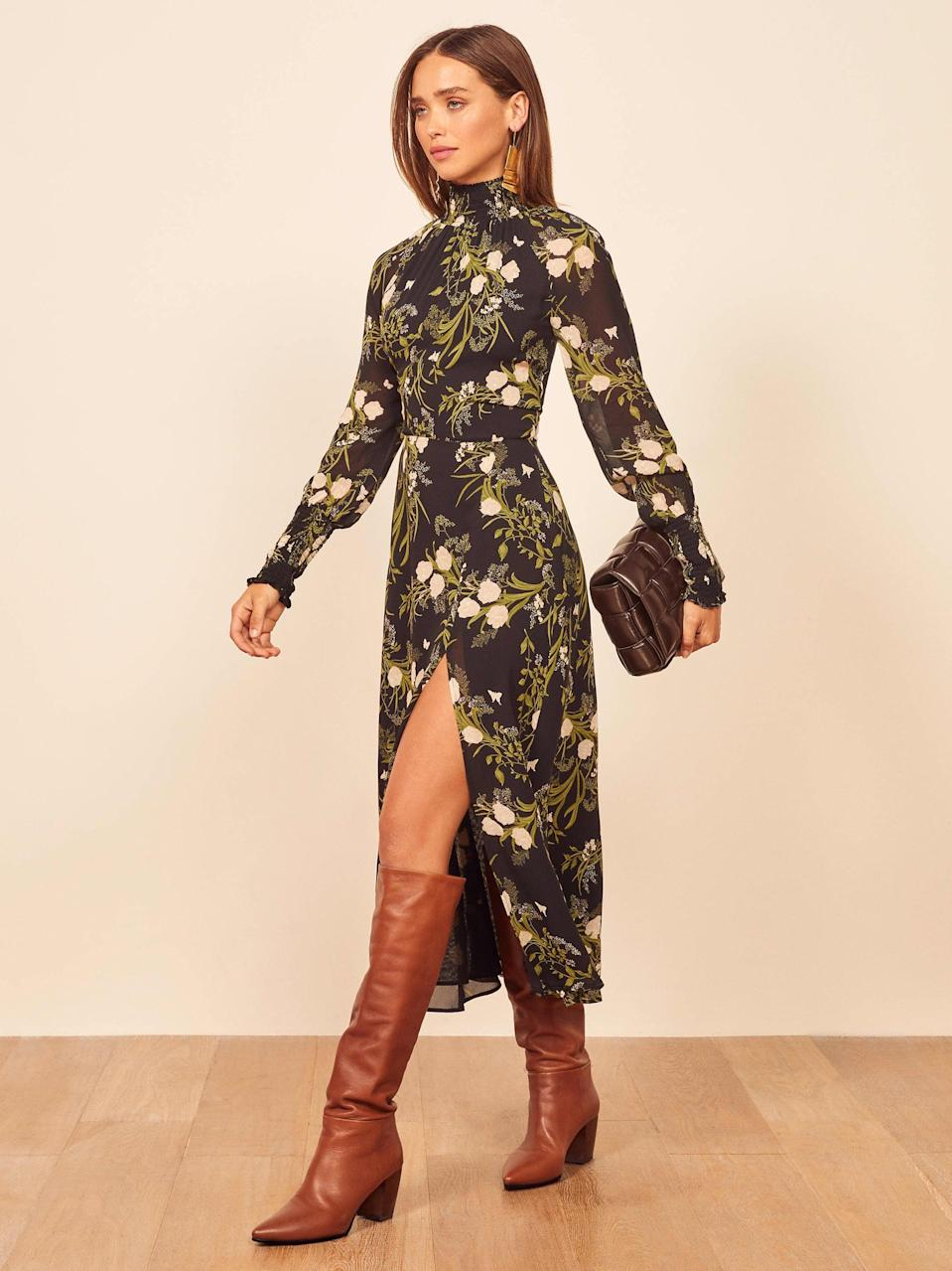 <p>I'm a total sucker for Reformation, but scoring its pieces on sale is a rare occurrence. The sustainable retailer will be hosting 30 percent off on Black Friday, and I'm hoping to get this <span>Reformation Valentin Dress</span> ($248) so I can wear it through the holidays and on New Year's Eve.</p>
