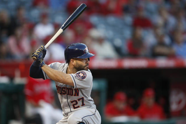 José Altuve took over as the All-Star Game's leading vote-getting in the second update. (AP Photo)
