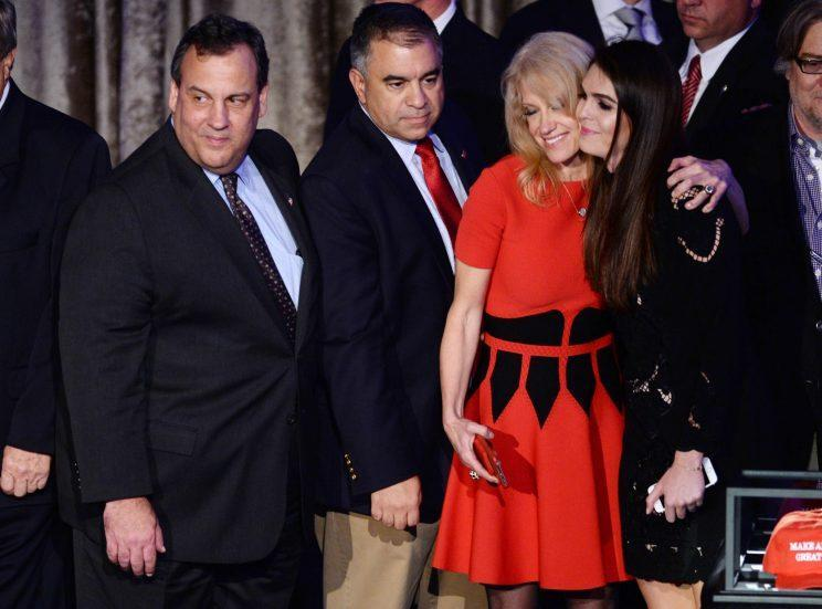 Christie and others celebrate Donald Trump as the 45th U.S. president. (Photo: Dennis Van Tine/STAR MAX/IPX)