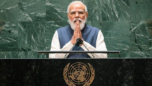 Prime Minister Narendra Modi didn't directly mention Pakistan or China in his Saturday speech to the United Nations General Assembly, but the targets of his address were clear. AP