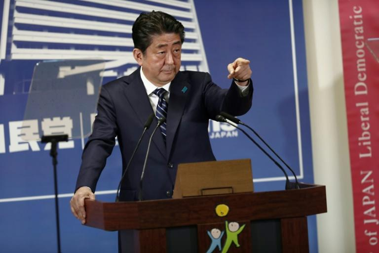 Shinzo Abe pointed to the threat from North Korea as a top policy priority