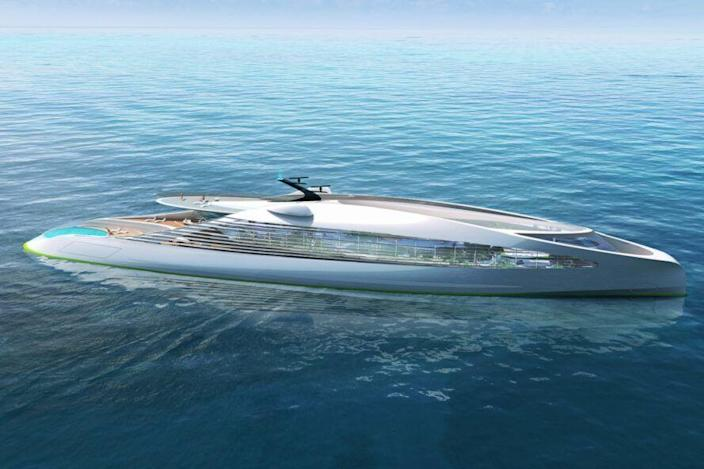 3deluxue's NFT Superyacht VY.01 boasts a luxurious and eco-friendly (albeit digital) design.