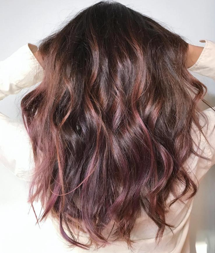 Chocolate Mauve Hair Is The New Color Trend Blowing Up On Instagram