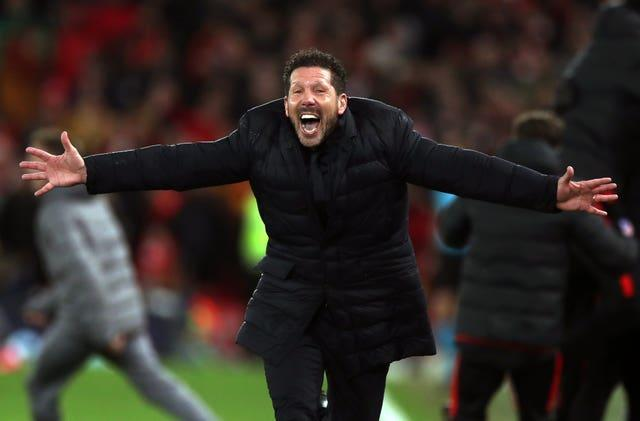 Atletico Madrid manager Diego Simeone, pictured, is preparing to face Chelsea in the Champions League