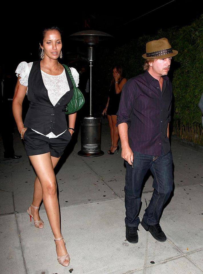 "Cameras caught sexy Padma Lakshmi and David Spade leaving LA sushi restaurant Koi on Wednesday, the same night the Washington, DC edition of her show ""Top Chef"" premiered on Bravo. Anthony/<a href=""http://www.pacificcoastnews.com/"" target=""new"">PacificCoastNews.com</a> - June 16, 2010"