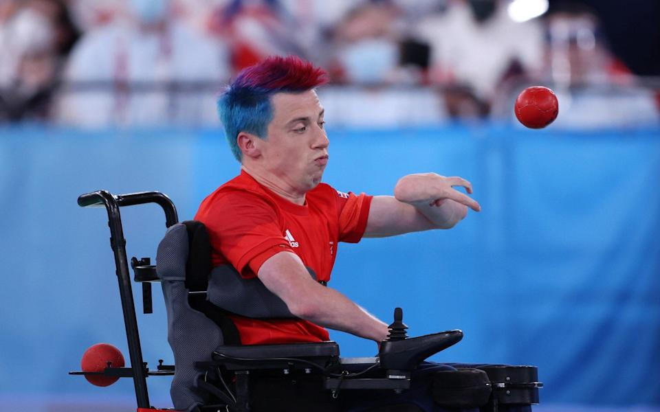 David Smith of Team Great Britain competes in the Boccia Individual - Getty Images