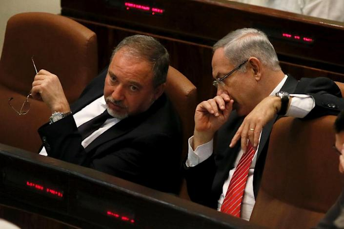 Incumbent Foreign Minister Avigdor Lieberman dropped a bombshell on Monday when he said his Yisrael Beitenu party would not be part of the next coalition (AFP Photo/Gali Tibbon)