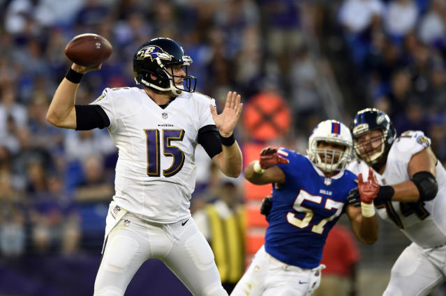 Ryan Mallett last played for the Baltimore Ravens in 2017 . (AP Photo/Gail Burton)