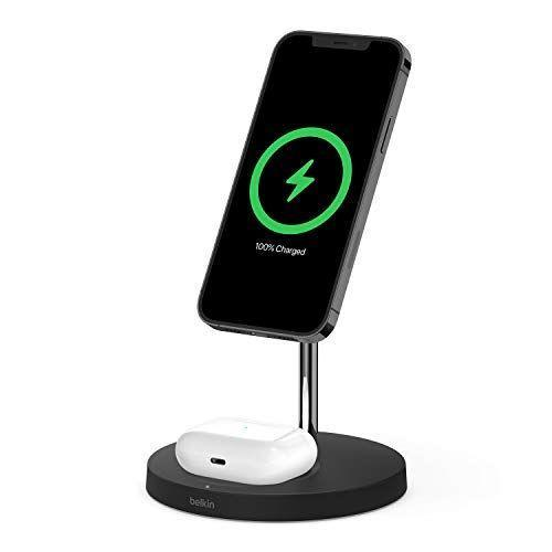 """<p><strong>Belkin</strong></p><p>amazon.com</p><p><strong>$99.99</strong></p><p><a href=""""https://www.amazon.com/dp/B091J7B6X7?tag=syn-yahoo-20&ascsubtag=%5Bartid%7C2089.g.1453%5Bsrc%7Cyahoo-us"""" rel=""""nofollow noopener"""" target=""""_blank"""" data-ylk=""""slk:Shop Now"""" class=""""link rapid-noclick-resp"""">Shop Now</a></p><p>If Dad loves his Apple gadgets, gift him this cool MagSafe charger that will juice up his iPhone 12 and AirPods. It has fast-charging capabilities and also <a href=""""https://www.amazon.com/dp/B091J6BY3C?th=1"""" rel=""""nofollow noopener"""" target=""""_blank"""" data-ylk=""""slk:comes in white"""" class=""""link rapid-noclick-resp"""">comes in white</a> to complement any aesthetic. </p>"""