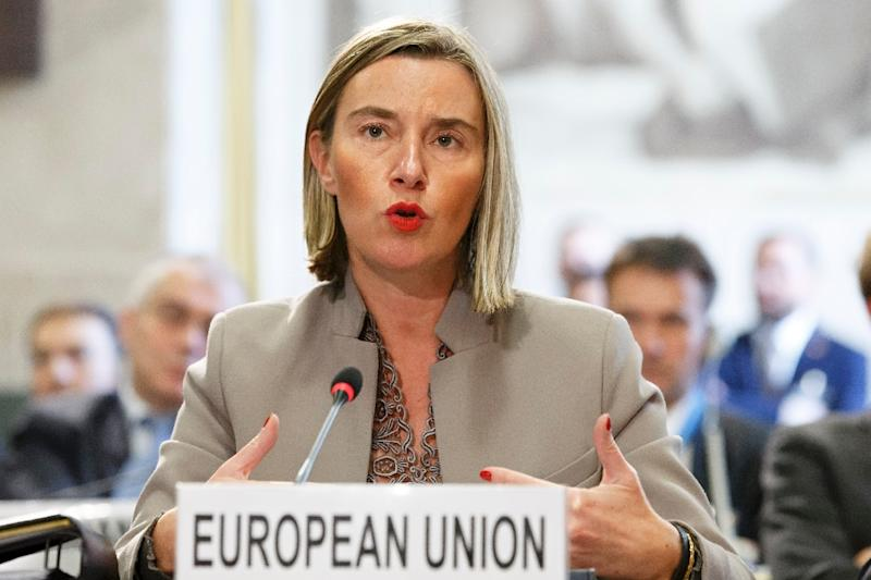 Federica Mogherini has warned that Europe does not want to become a battlefield for global powers once again