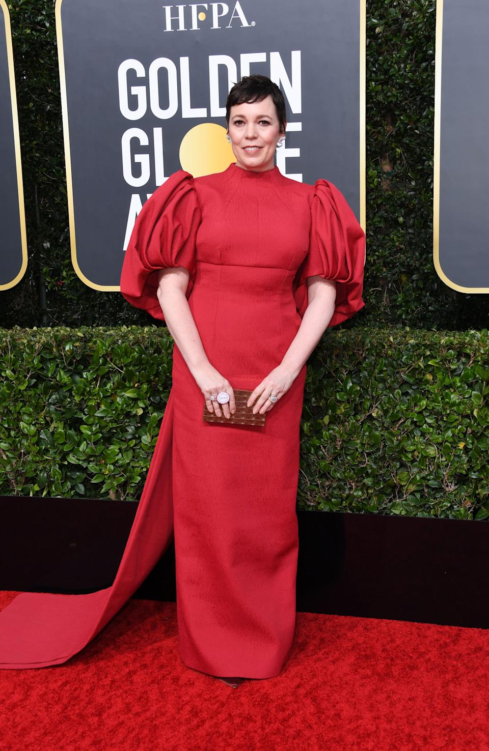Thank you to the legendary Olivia Colman for not being afraid of bold sleeves.
