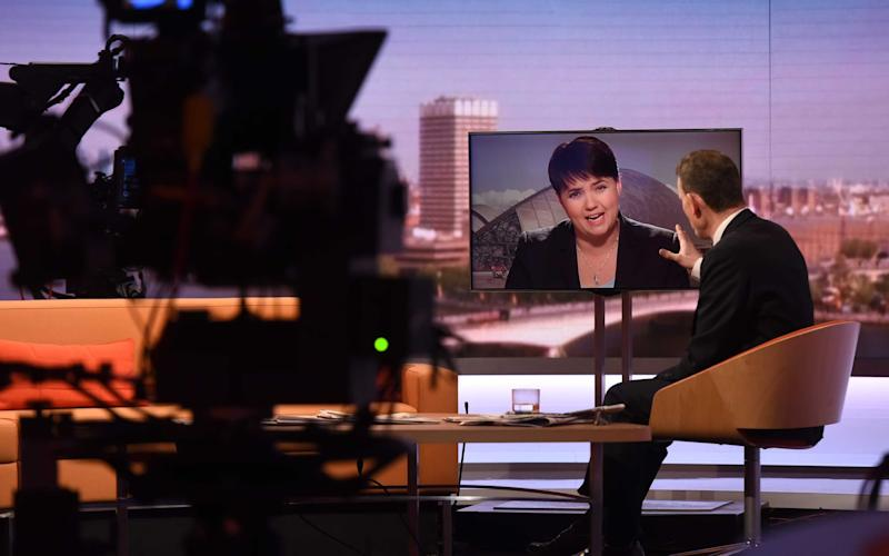Ruth Davidson told the BBC's Andrew Marr that Nicola Sturgeon had broken her promise that public support was needed for a second referendum - Credit: PA