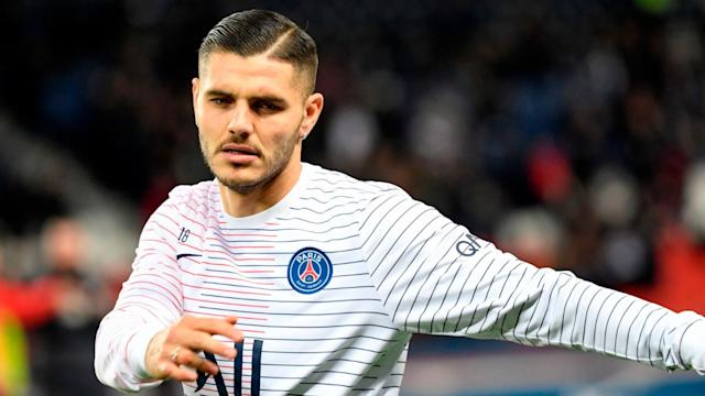 Mauro Icardi scored Paris Saint-Germain's winner on Wednesday but then suffered a worrying injury against Club Brugge.
