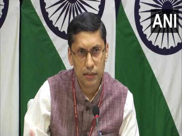 External Affairs Ministry spokesperson Arindam Bagchi speaking at a weekly presser on Friday.