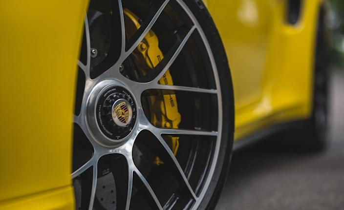 <p>Despite its straight-line prowess, the 911 Turbo S has an exhaust note that is a paragon of deportment compared to the sonic overload produced by the naturally aspirated engine in the GT3, the manual version of which registered 100 decibels in the cabin at wide-open throttle-the Turbo S registered 84 decibels.</p>