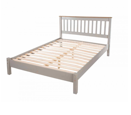 "<p><a class=""body-btn-link"" href=""https://www.ryman.co.uk/corona-grey-wooden-slatted-double-bed-frame-4ft-6"" target=""_blank"">SHOP NOW</a> £124.99</p><p>Who knew Ryman's sold beds? Us neither. There isn't a big range, but you can find a selection of single and double frames.</p>"
