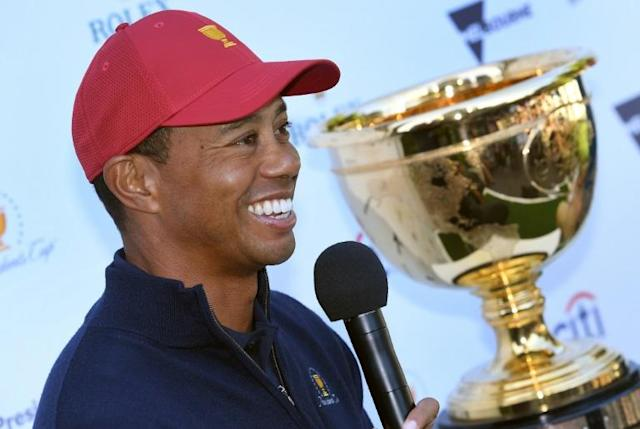Decision time: US captain Tiger Woods will make his Presidents Cup wildcard picks after the PGA Tour's current Asian Swing (AFP Photo/William WEST)