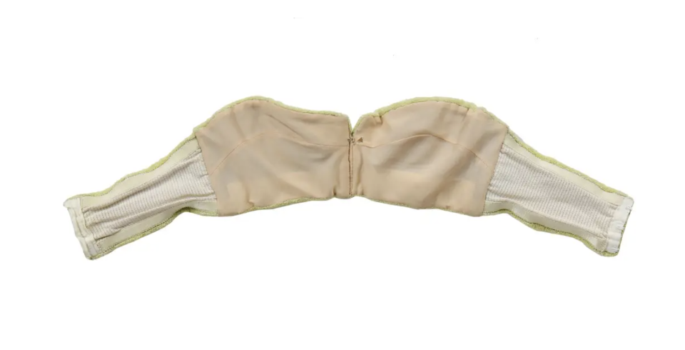 The famous bra Barbara Windsor wore in Carry on Camping is up for sale. (Kerry Taylor Auctions/PA)