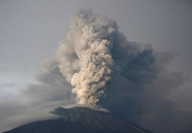Ash billows from Bali volcano in fresh volley of activity