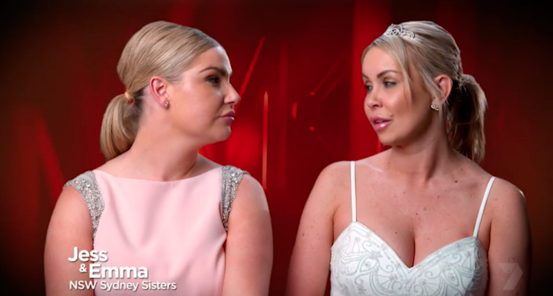 Jess and Emma were under the pump during last night's episode of MKR. Source: Seven
