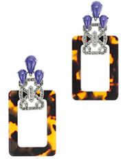 Tortoise Shell Earrings, $78