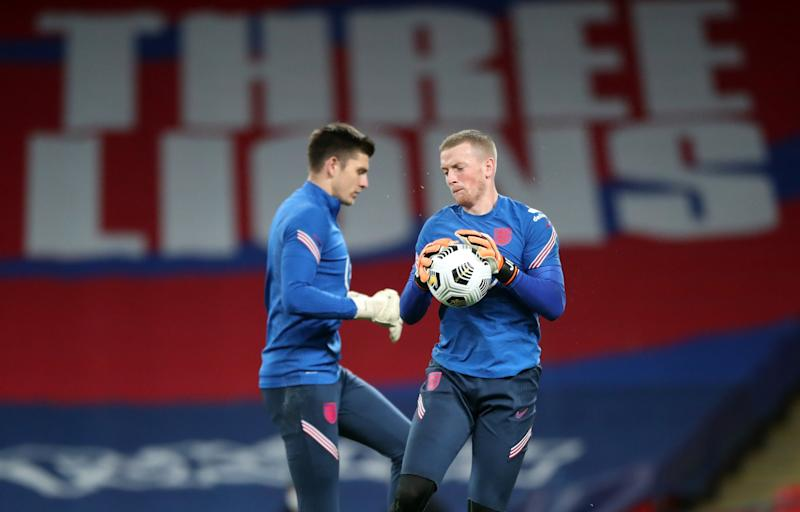 England goalkeepers Nick Pope and Jordan PickfordGetty Images
