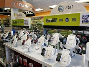 Phones in a RadioShack store: Credit Reuters