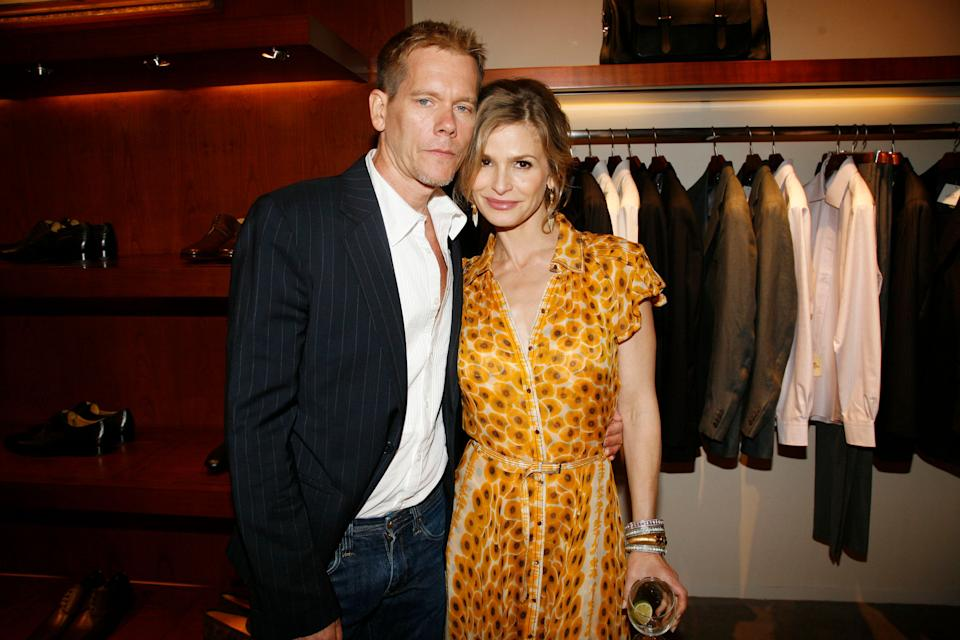 Bacon and Sedgwick attend the Hermes Wall Street store opening after-party at The Cunard Building in New York City.