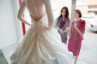 """<p>First, a question: Is she paying for a chunk of the expenses? If so, she deserves to have some say. """"If she's contributing money, you have to listen and respect her opinion,"""" says wedding planner Julie Sabatino of <a rel=""""nofollow noopener"""" href=""""http://thestylishbride.com/?mbid=synd_yahoostyle"""" target=""""_blank"""" data-ylk=""""slk:the Stylish Bride"""" class=""""link rapid-noclick-resp"""">the Stylish Bride</a>. What helps: Set boundaries. Tell her exactly what you're going to make independent calls on (your dress!) and what you'd love her input on (place settings!).</p>"""