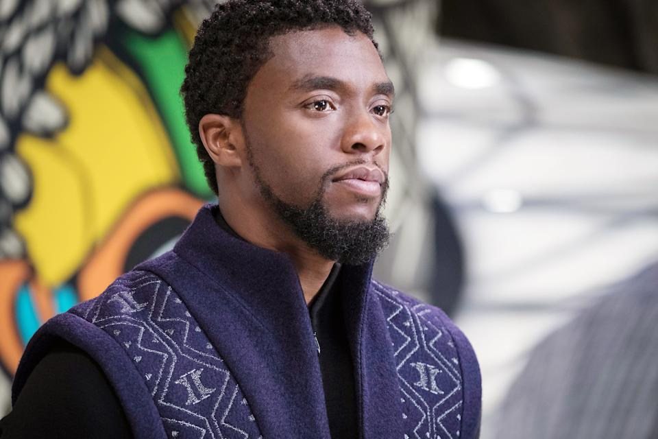 Chadwick Boseman in the 2018 Marvel Studios blockbuster, 'Black Panther' (Photo: Matt Kennedy /© Marvel / © Walt Disney Studios Motion)