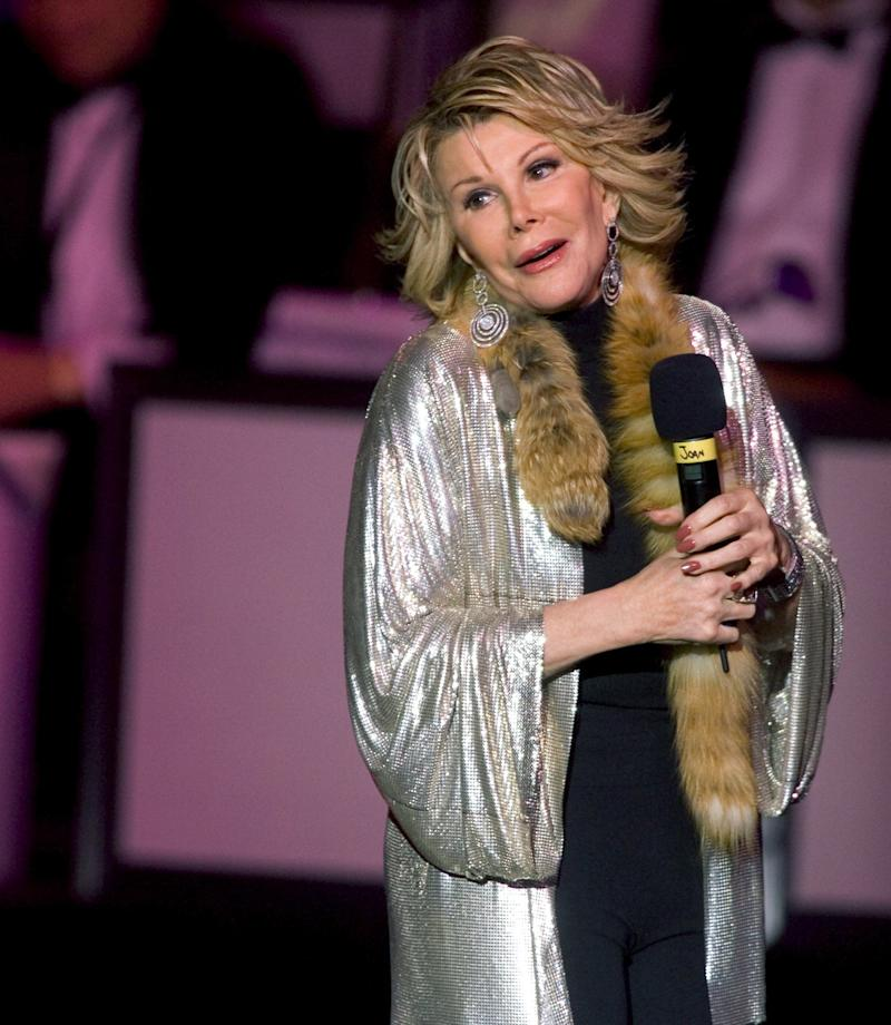 Joan Rivers performs at the Stardust Resort & Casino June 26, 2004 in Las Vegas, Nevada. (Ethan Miller/Getty Images)