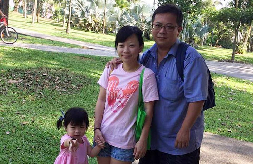 Teo Ghim Heng (right) is currently on trial for murdering his pregnant wife and child in the family's Woodlands flat on 20 January 2017. (PHOTO: Eric Teo / Facebook)