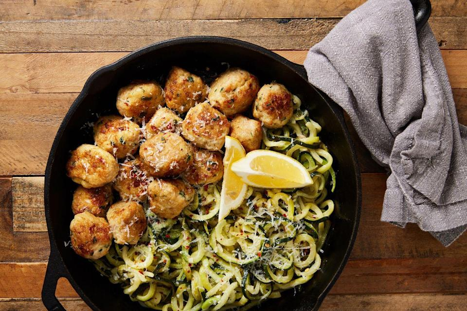 """<p>Now this is a <a href=""""https://www.delish.com/cooking/recipe-ideas/g3593/low-carb-recipes/"""" rel=""""nofollow noopener"""" target=""""_blank"""" data-ylk=""""slk:low-carb"""" class=""""link rapid-noclick-resp"""">low-carb </a>dinner we can feel good about.<br></p><p>Get the recipe from <a href=""""https://www.delish.com/cooking/a22159055/garlic-butter-meatballs-recipe/"""" rel=""""nofollow noopener"""" target=""""_blank"""" data-ylk=""""slk:Delish"""" class=""""link rapid-noclick-resp"""">Delish</a>.</p>"""