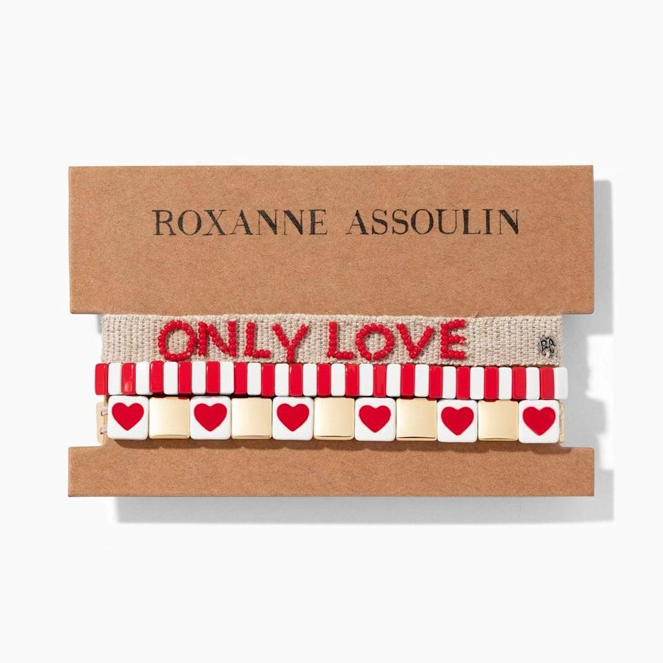 <p>We've got heart eyes for this <span>Roxanne Assoulin Only Love Stack</span> ($215).</p>